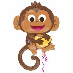 Balon Foliowy - Wesoła małpka 63 cm x 91 cm