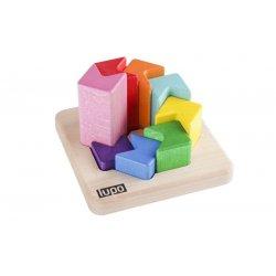 Układanka Drewniana Logiczna - Piramidka Lupo Toys 7520