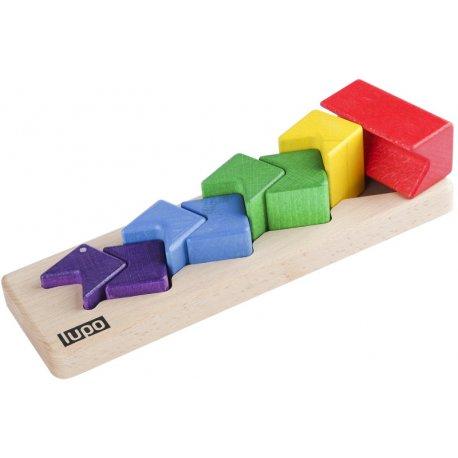 Drewniana Piramida Wąż - Zabawka dla Dzieci