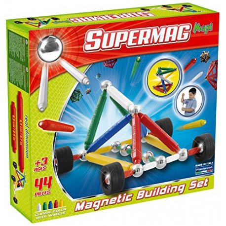 Supermag Maxi Koła 44 el - Klocki Magnetyczne