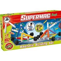 Supermag Maxi Koła 102 el - Klocki Magnetyczne