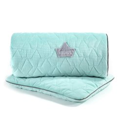 Pościel Velvet Collection - blanket and mid pillow, audrey mint - La Millou