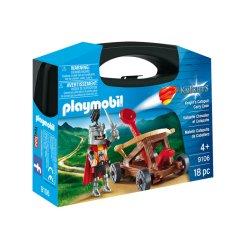 Zestaw Playmobil 9106 - Przenośna Walizka Rycerz z katapultą