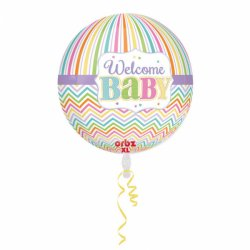 Welcome BABY Balon Orbz - 38 cm x 40 cm
