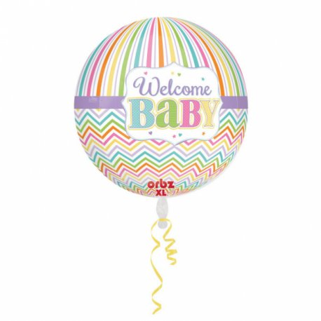Welcome BABY Balon Orbz - 38 cm x 40 cm