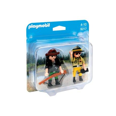 Playmobil 9217 - Duo Pack Strażnik i kłusownik