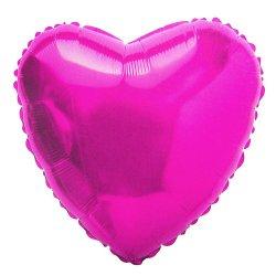 """Balon foliowy serce 18"""" ciemnoróżowy napełniony helem"""