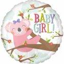 Balon Baby Girl na Narodziny Dziewczynki - Koala 43 cm