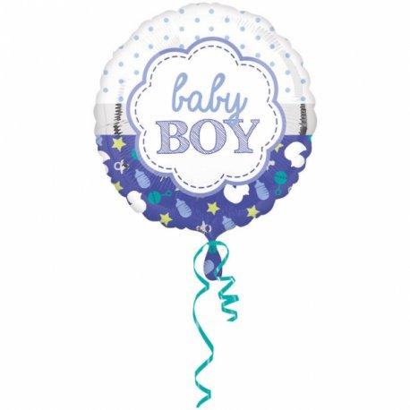 Balon Narodziny Dziecka Baby Boy - dla chłopczyka - Koala 43 cm