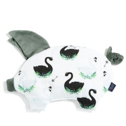 Podusia Sleepy Pig Velvet - Jungle swan, khaki - La Millou