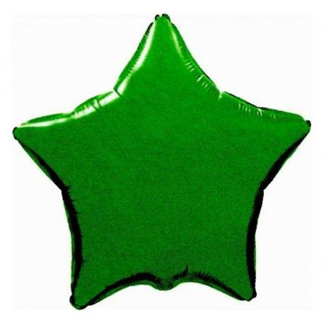 """Balon foliowy gwiazda zielona 18"""" napełniony helem"""