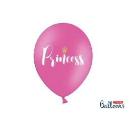 Balon lateksowy 30cm - Princess, Pastel Hot Pink