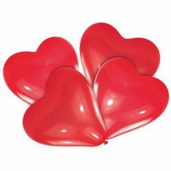 Balon lateksowy SERCE czerwone 30 cm