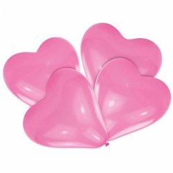 balony Serca różowe - uroczy jasny róż 30 cm