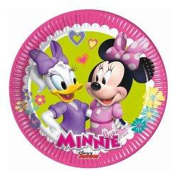 """Talerzyki papierowe """"Minnie Happy Helpers"""" 8 szt., 20 cm"""