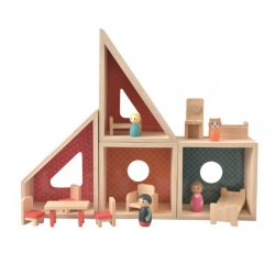 Drewniany domek dla lalek - Doll house - Egmont Toys