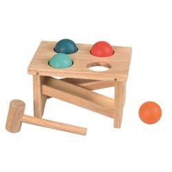 Drewniana Przebijanka z piłkami - Hammer game - Egmont Toys