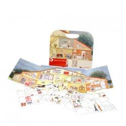 Gra magnetyczna dom - Magnetic Game Hosue - Egmont Toys