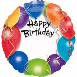 Balon Spersonalizowany z napisem Happy Birthday