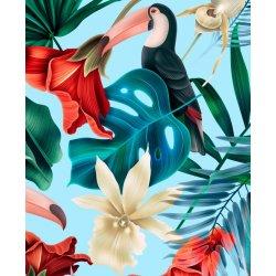 Travel Bag king size - Blue hawaiian birds - La Millou
