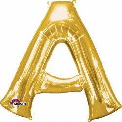 Litery od A do Z - Balon Foliowy Złoty 33 cm wysokości