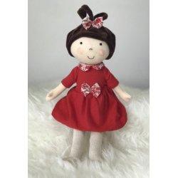 Lalka Karolina w czerwonej sukience