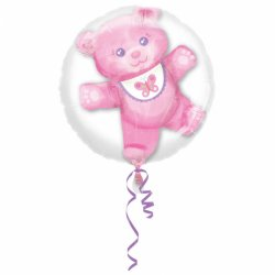 """Balon w Balonie Baby Girl """"Różowy Miś"""" Insiders 60 cm x 60 cm"""