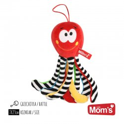 Hencz Toys 997 - Grzechotka Mini Ośmiornica Czerwona