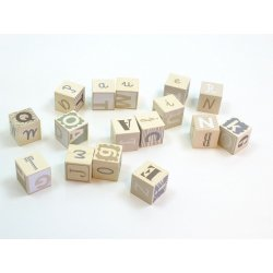 Bajo 92340 - Drewniane Klocki Alfabet - Kolory Ziemi