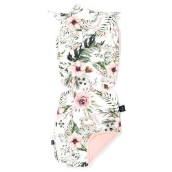 Thick Stroller Pad Velvet, Wild Blossom, Powder Pink,La Millou