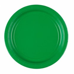 Zielone Papierowe Talerzyki 8 sztuk o średnica 22,8 cm