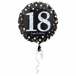 Balon Foliowy na 18 Urodziny - Okrągły Holograficzny