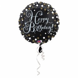 Elegancki balon Urodzinowy z napisem Happy Birthday Holograficzny