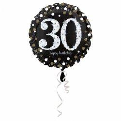 Balon Foliowy na 30 Urodziny - Okrągły Holograficzny 45 cm