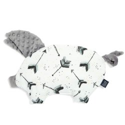 Poduszka Sleepy Pig - Boho royal arrows, grey - La Millou
