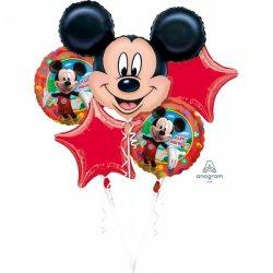 Bukiet balonów foliowych Myszka Mickey - Zestaw 5 balonów