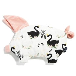 Podusia Sleepy Pig Velvet, Moonlight swan, Powder pink, La Millou