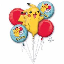 Bukiet balonów foliowych Pokemon- Zestaw 5 balonów