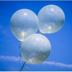 Duży balon przeźroczysty z brokatem - 18 cali, ślicznie połyskuje