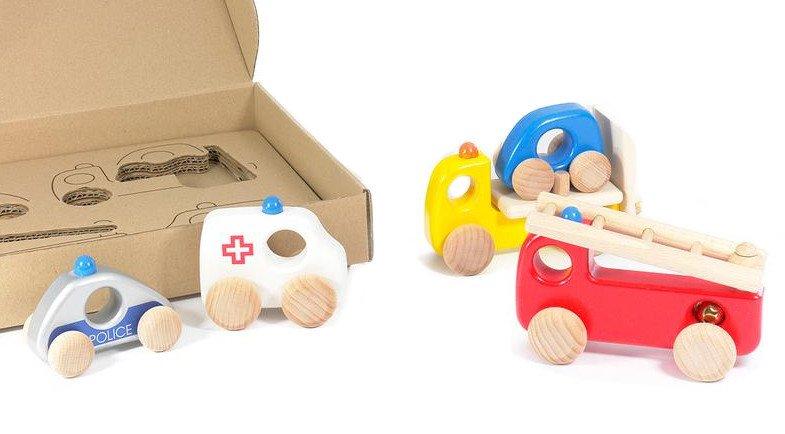 Drewniane samochodziki dla dzieci - Pierwsza Pomoc - Bajo 41110Z