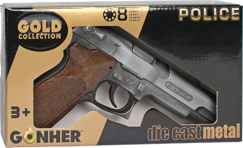 Pistolet na kapiszony - Metalowy - Seria GOLD - Gonher 45/1