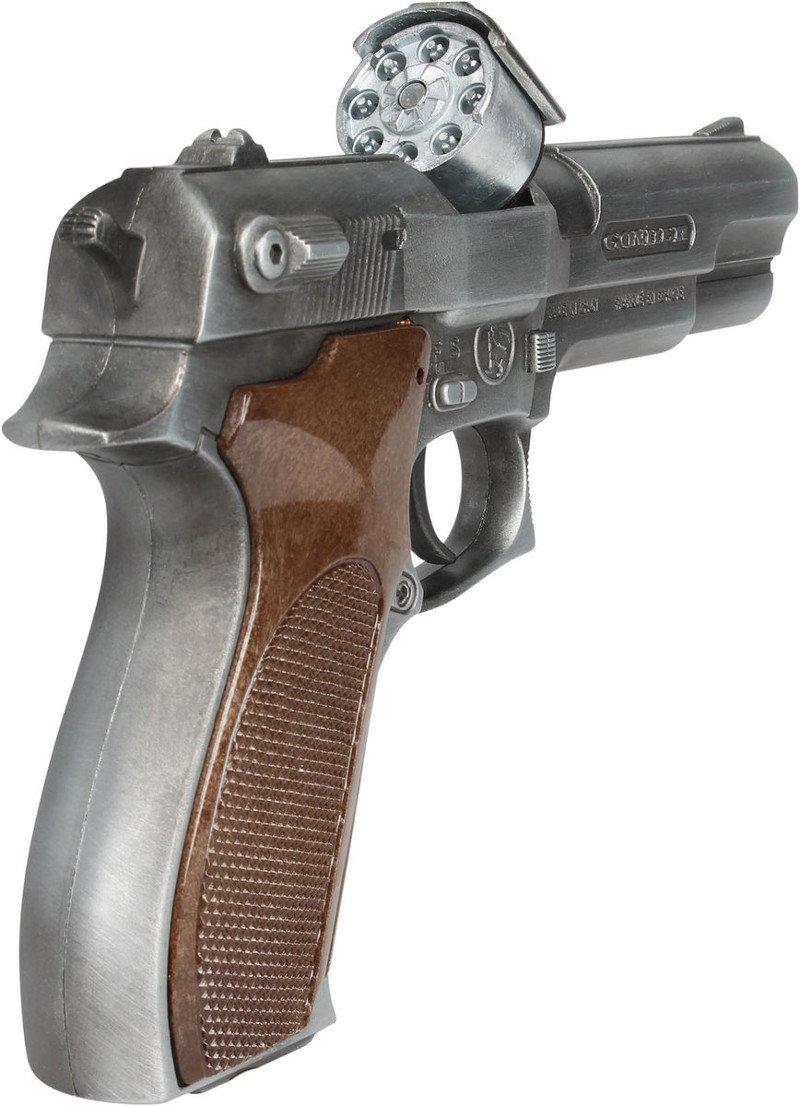 Gonher 45/1 - Pistolet na kapiszony - Magazynek na 8 sztuk kapiszonów