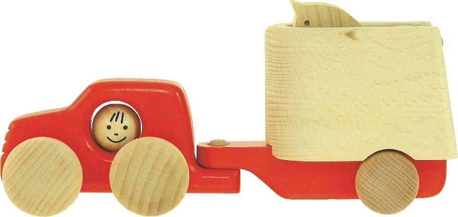 Samochód z przyczepą dla konia - Zabawka Bajo 46450