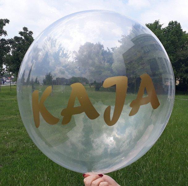 Balon Dekoracyjny Deco Bubble z napisem KAJA