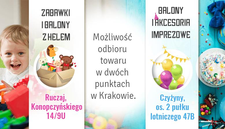 nasze sklepy w Krakowie