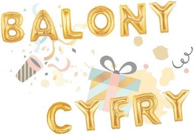 Balony cyfry na urodziny